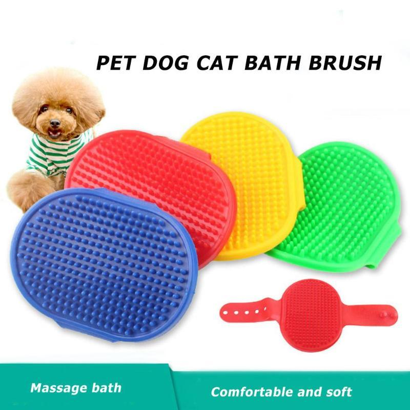 Pet Dog Cat Bath Brush Comb Rubber Glove Hair Fur - grumpycat.store