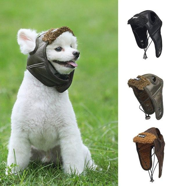 Pet Dog Cute Aviator Caps Pet Costume Cosplay Warm - grumpycat.store