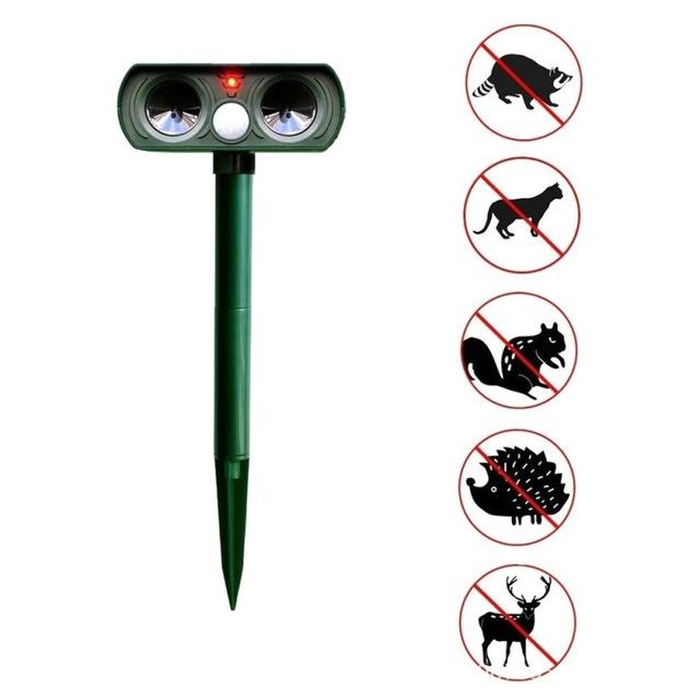 Pet Dog Repeller Cat Bird Ultrasonic Solar Power - grumpycat.store