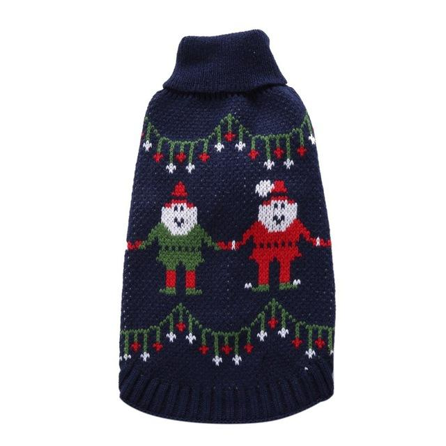 Pet Sweater Christmas Style Holiday Christmas - grumpycat.store