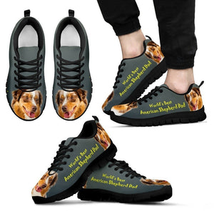 'World's Best American Shepherd Dad' Running ShoesFather's Day Special - grumpycat.store