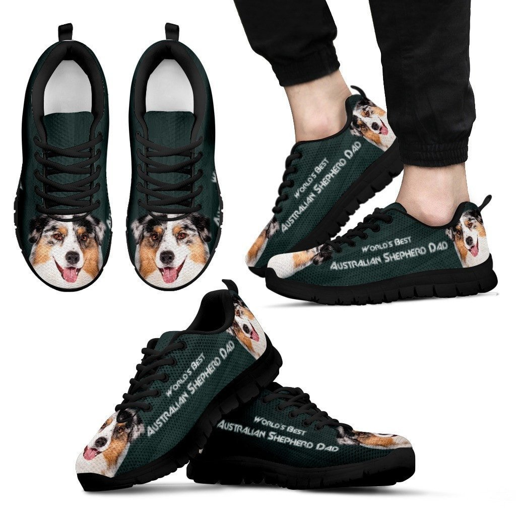 'World's Best Australian Shepherd Dad' Running Shoes Father's Day Special - grumpycat.store