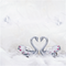 天鵝湖之戀 採用Swarovski元素 (銀色) Crystal Swans in Love with Heart Shape Figurine (Chrome)