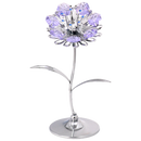 太陽向日葵水晶花 採用Swarovski元素 (銀色) Crystal Sunflower Figurine (Chrome)