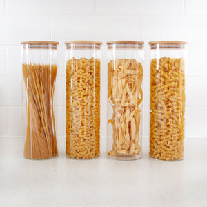 Bamboo Glass Jar 2100ml