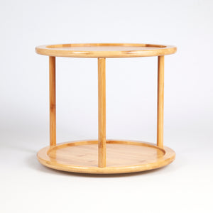 Two Tier Bamboo Turntable/ Lazy Susan