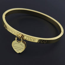 Load image into Gallery viewer, Peach Heart Bracelet