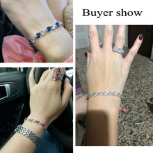 Load image into Gallery viewer, Silver Crystal Bracelet