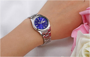 WWOOR Blue Quartz Stainless Steel Watch