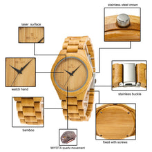 Load image into Gallery viewer, Bamboo Watches Japan Minister
