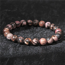 Load image into Gallery viewer, ONYX, RHODONITE & ROSE QUARTZ BRACELET SET