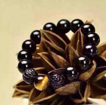 Load image into Gallery viewer, OBSIDIAN BRAVE HAND CARVED BRACELET - PROTECTIVE