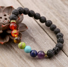 Load image into Gallery viewer, CHAKRA LAVA STONE BRACELET