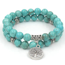 Load image into Gallery viewer, HOWLITE TREE OF LIFE BRACELET