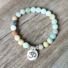 Load image into Gallery viewer, AMAZONITE FROSTED CHARM BRACELET