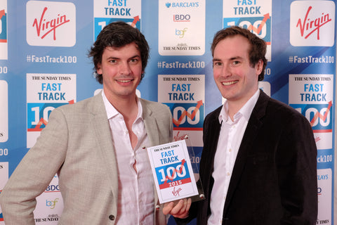 Adam Carnell and James Kinsella at the virgin fast track 100