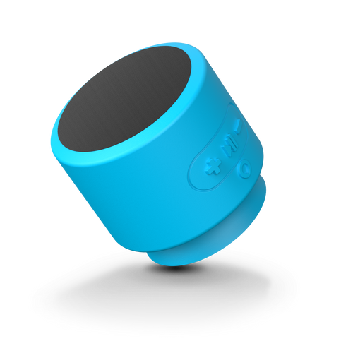 Minerva Voice Push, Bluetooth® Speaker with Siri Built-In - Blue