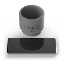 Load image into Gallery viewer, Minerva Voice Push, Bluetooth® Speaker with Siri Built-In - Gray