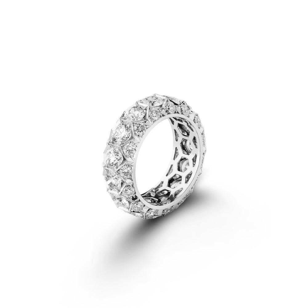 Diamond Honeycomb Eternity Ring