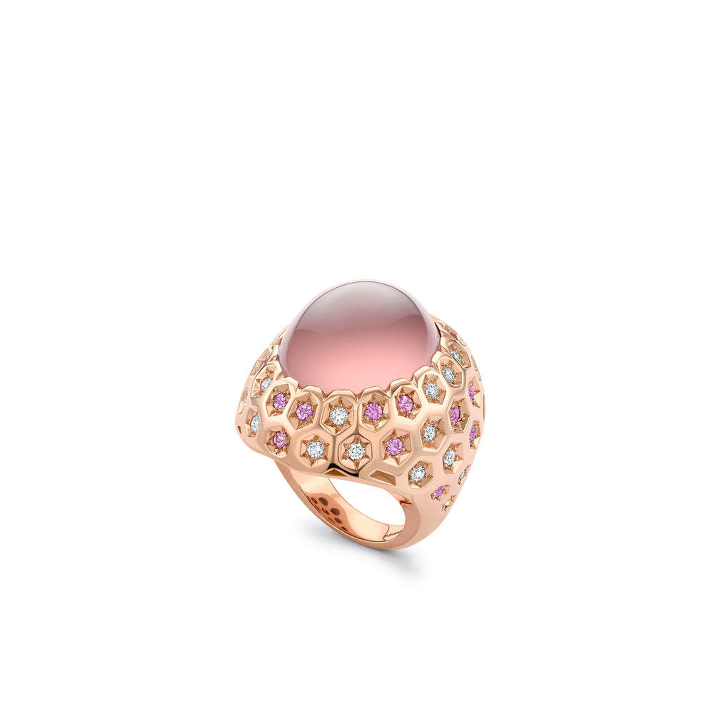 Pink Honeycomb Ring