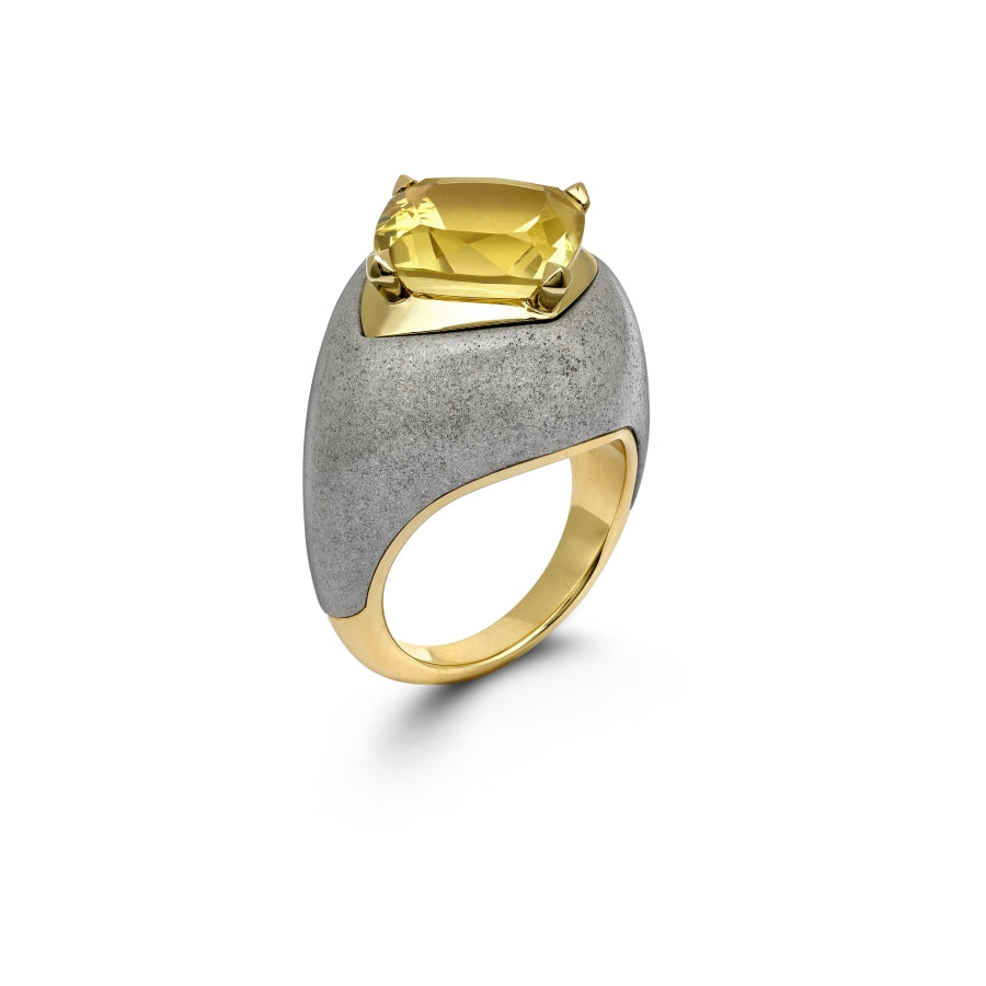 Beryl Marble Cocktail Ring