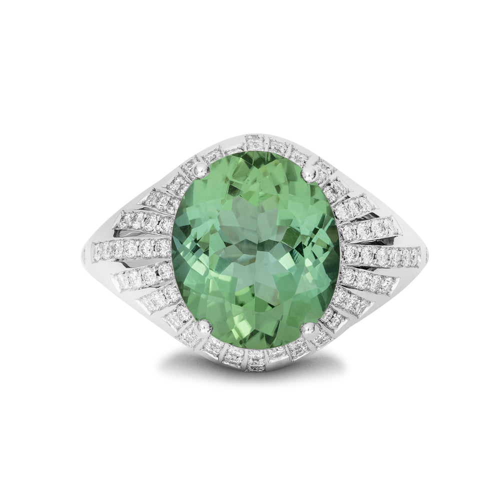 Tourmaline Starburst Ring