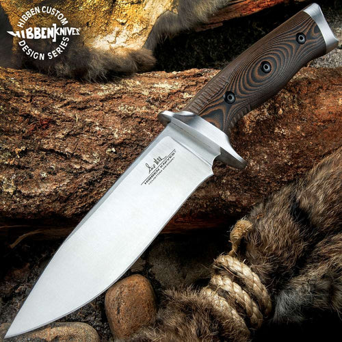 Gil Hibben Tundra Hunter Fixed Blade Knife With Sheath
