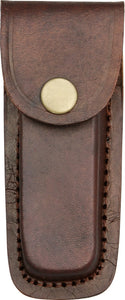 Brown Leather Sheath for 4 inch pocket knives
