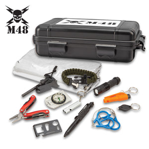M48 Deluxe Hard Case Survival Tool Box Kit