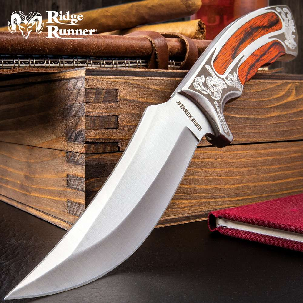 Ridge Runner Executive Wooden Fixed Blade Knife