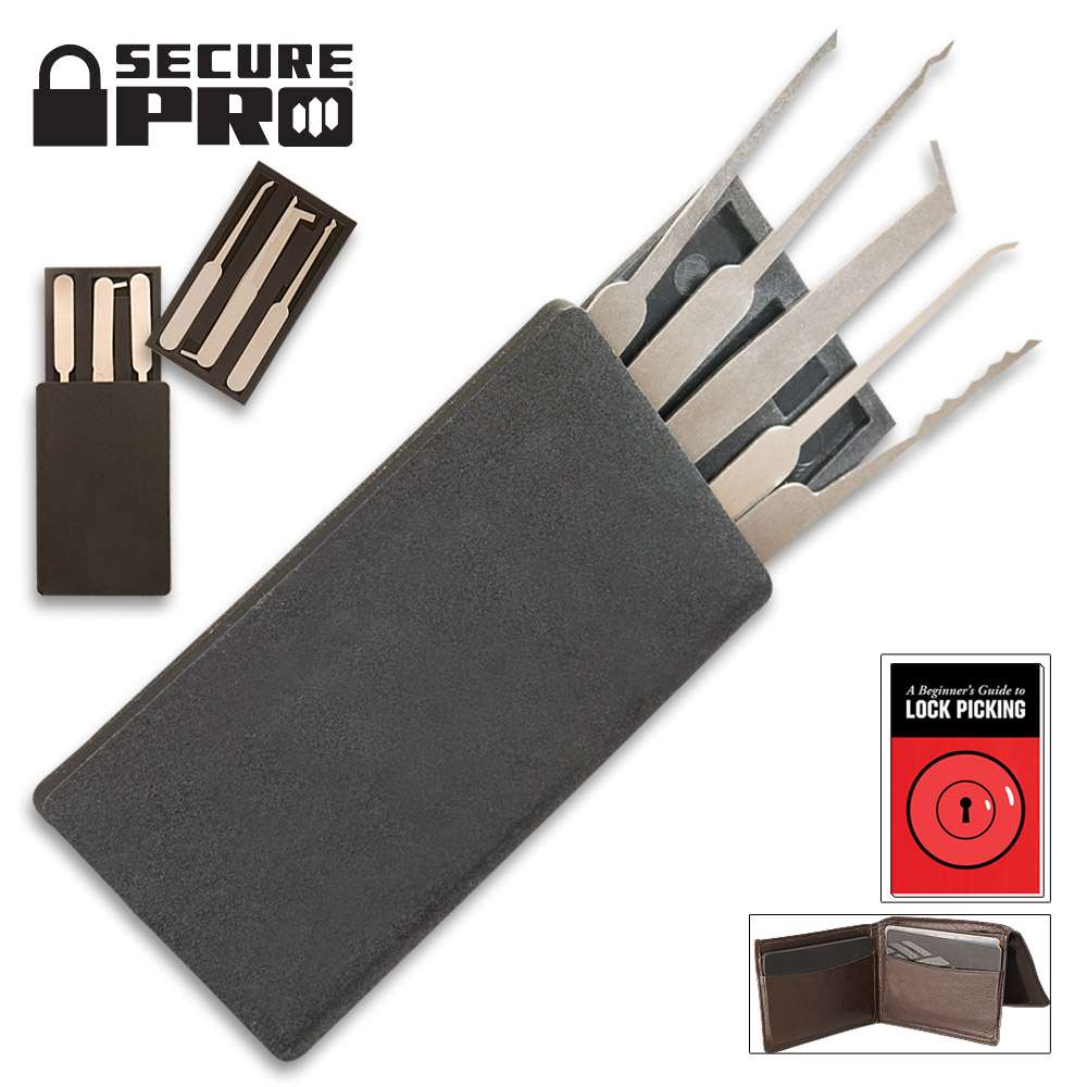 Secure Pro Credit Card-Sized Lock Picking Set
