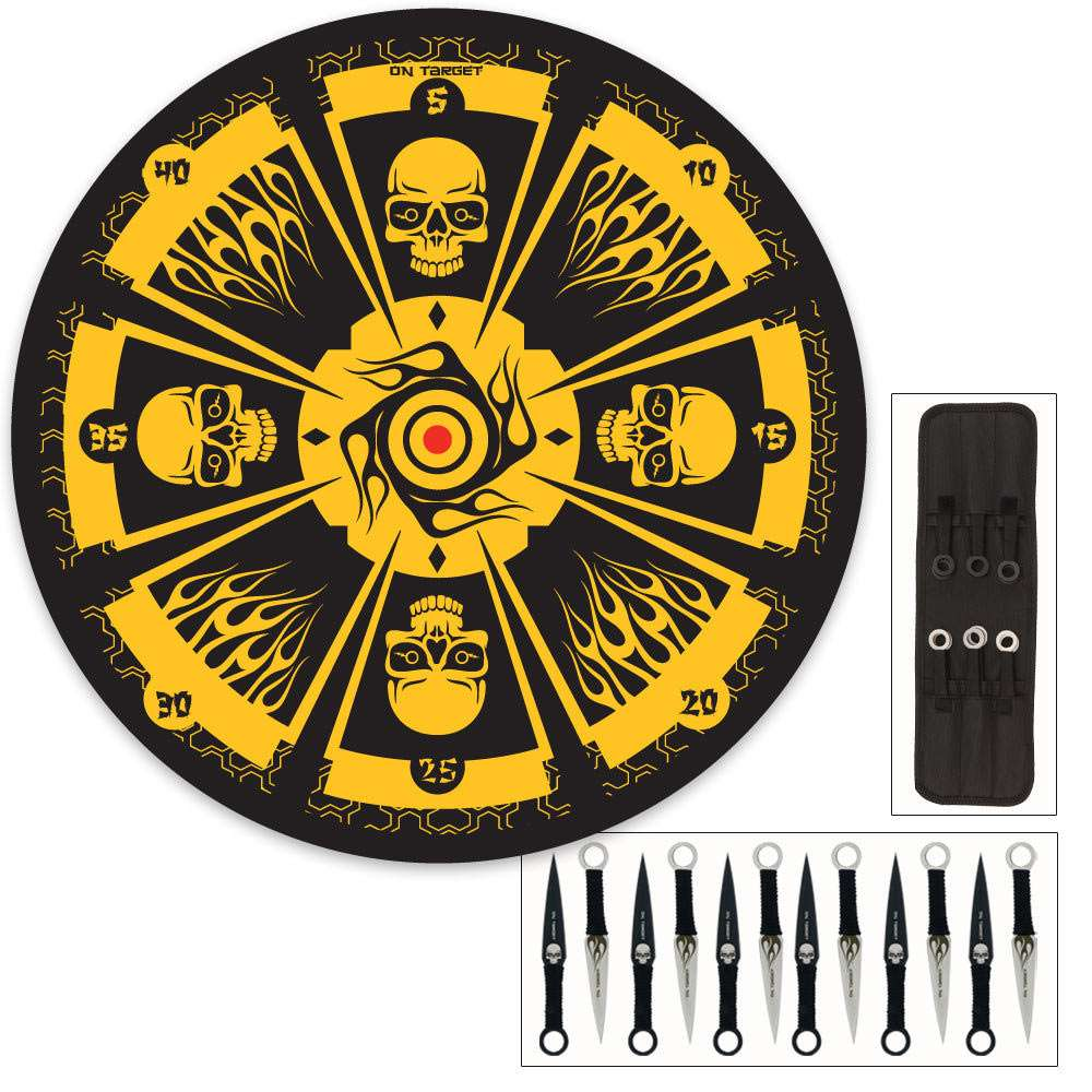 Skull Master Throwing Knife 12 set