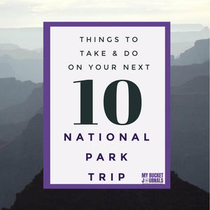 10 Things to Take and Do on Your National Park Trip