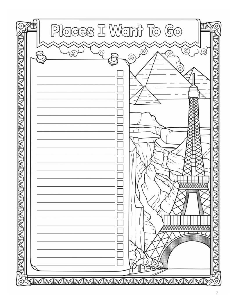 My Bucket List Coloring Book - Paperback