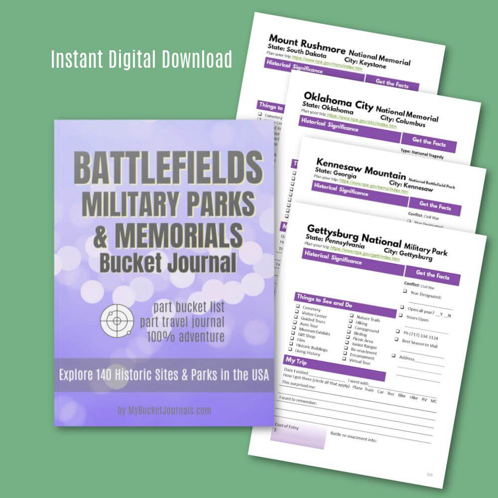 Battlefields, Military Parks & Memorials Bucket Journal - Digital