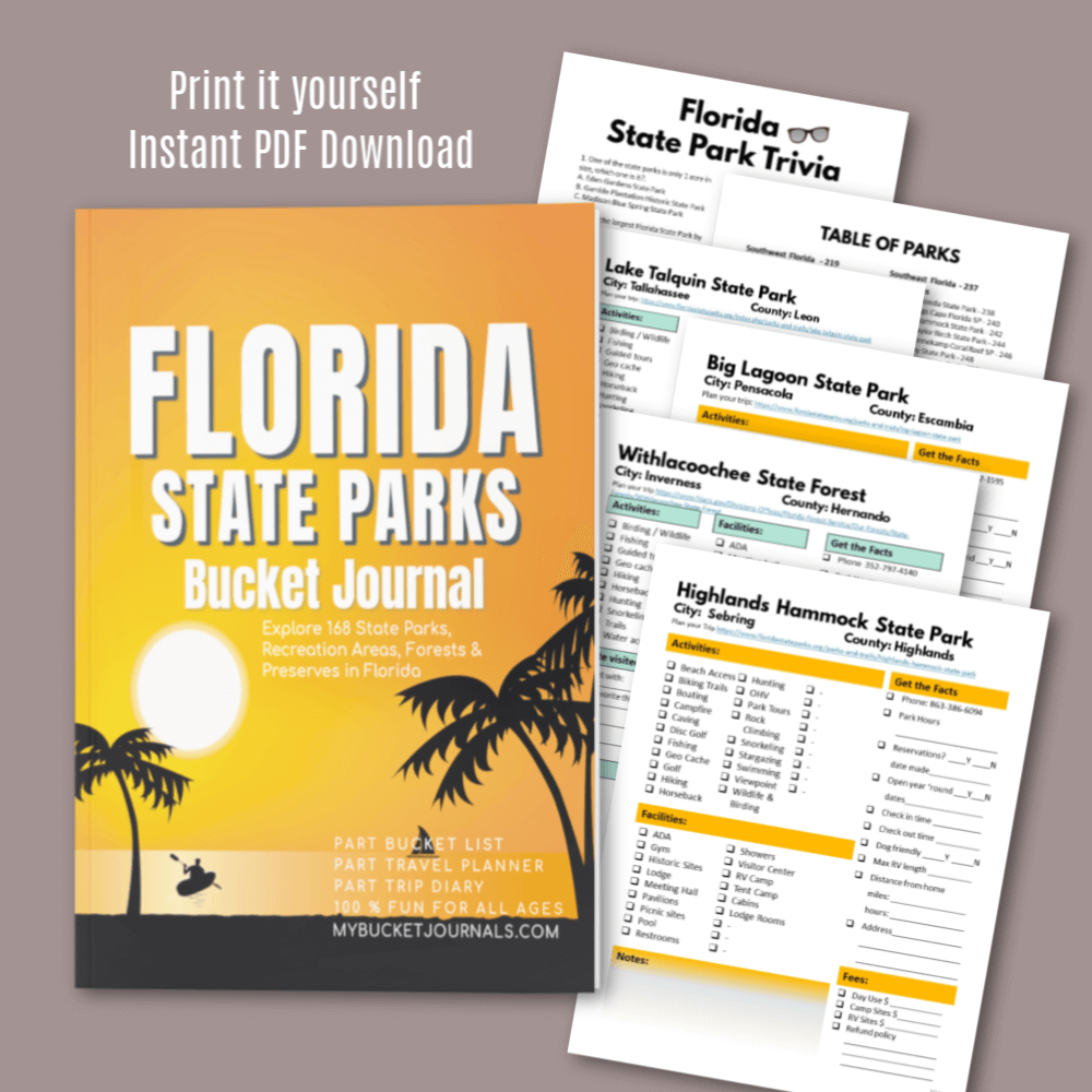 Florida State Parks Bucket Journal - Digital