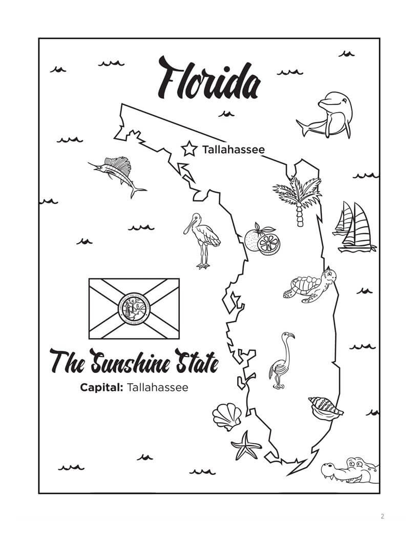 Florida Bucket List Coloring Book - Paperback