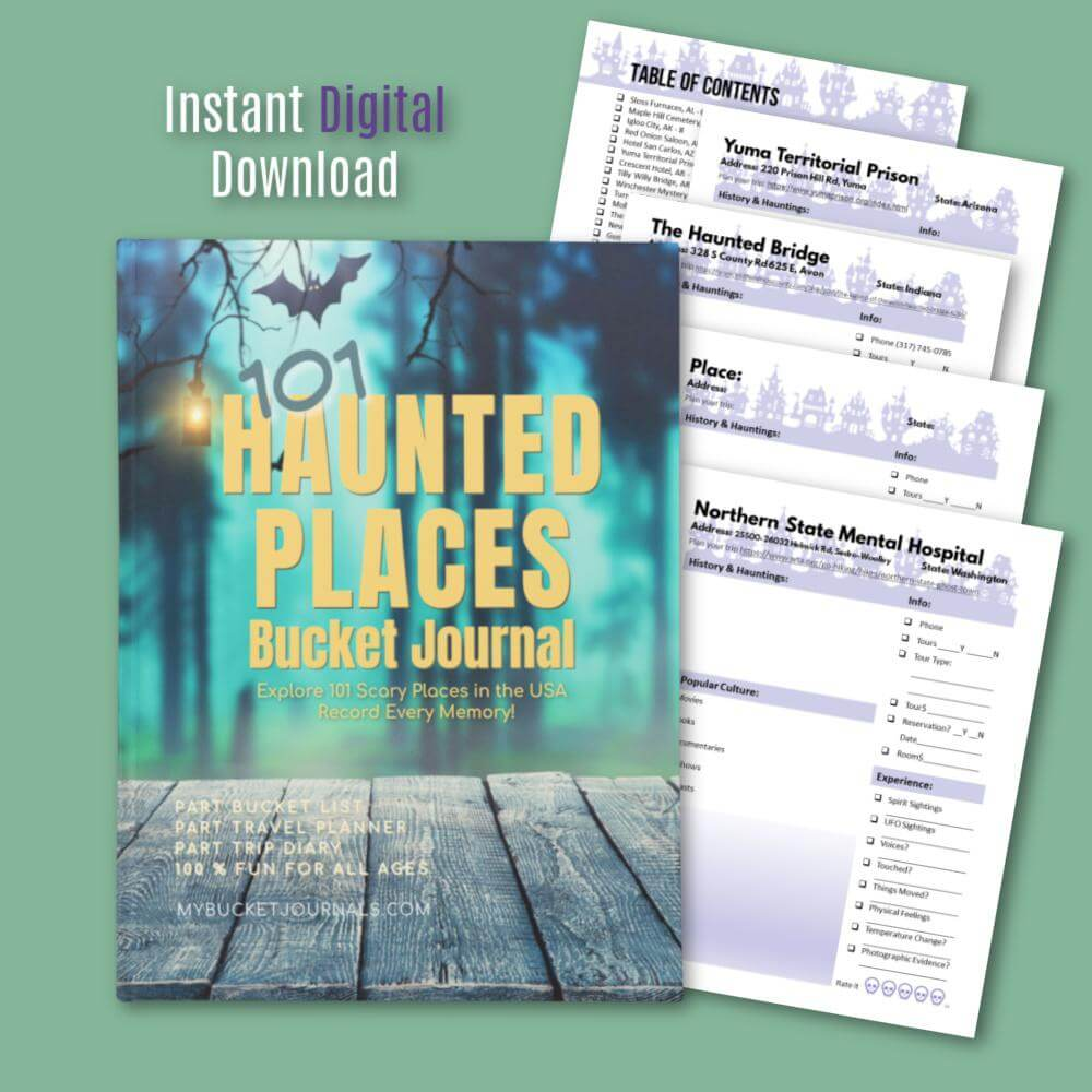 Haunted Places Bucket Journal - Digital