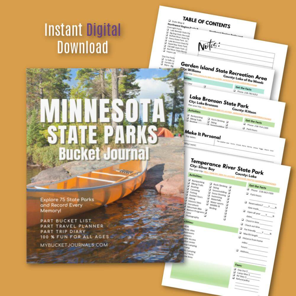 Minnesota State Parks Bucket Journal - Digital