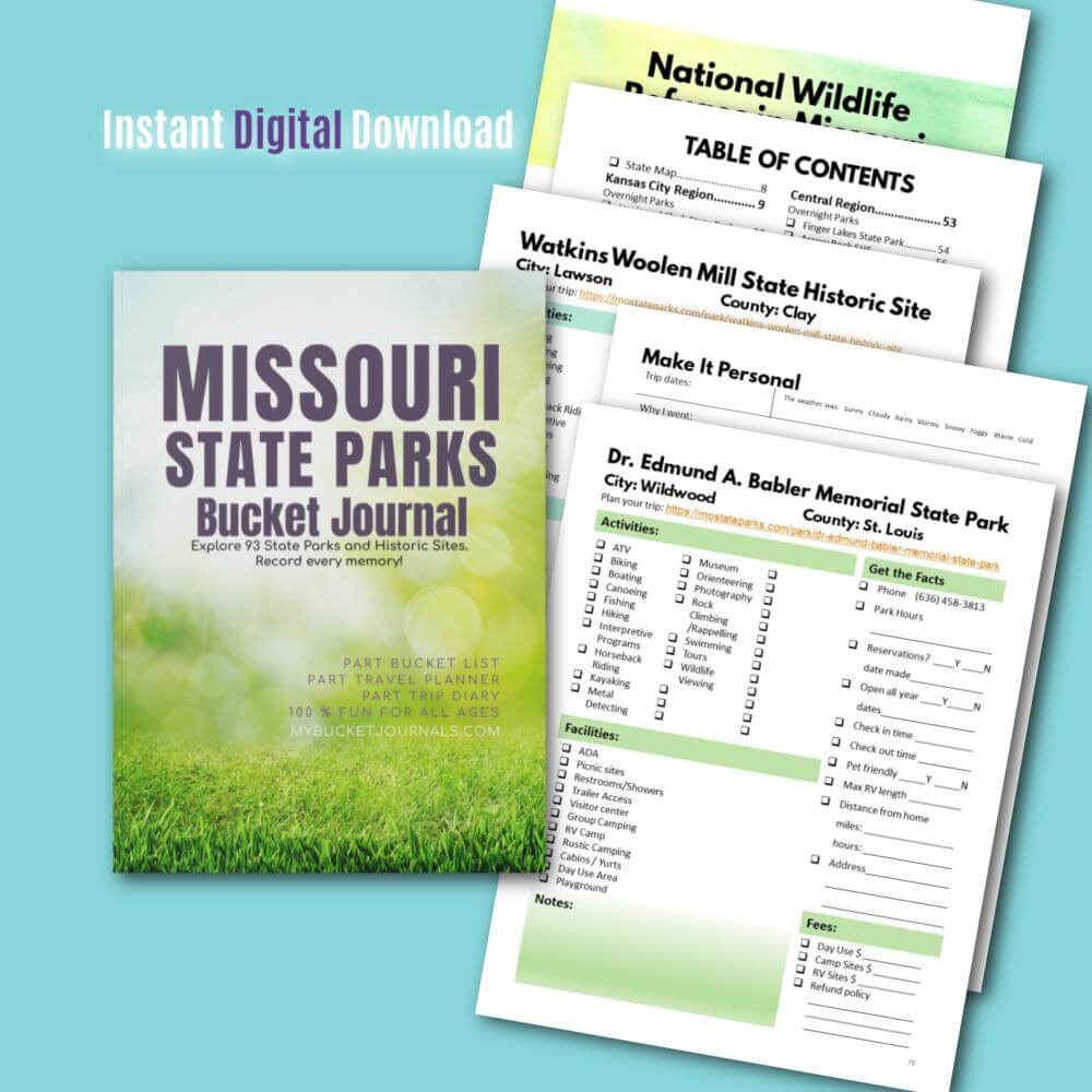 Missouri State Parks Bucket Journal - Digital