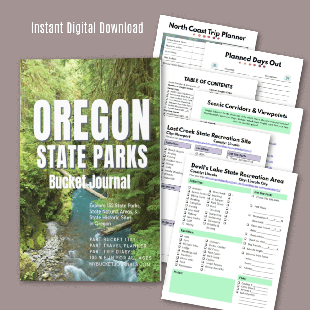 Oregon State Parks Bucket Journal - Digital