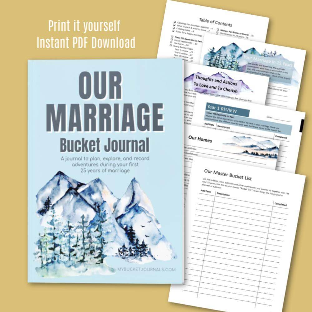 Our Marriage Bucket Journal - Digital
