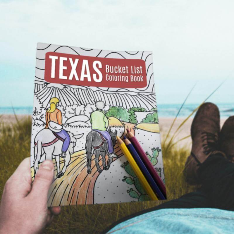 Texas Bucket List Coloring Book - Paperback