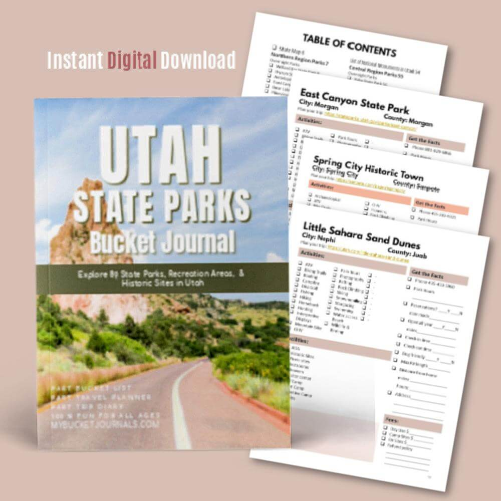 Utah State Parks Bucket Journal - Digital