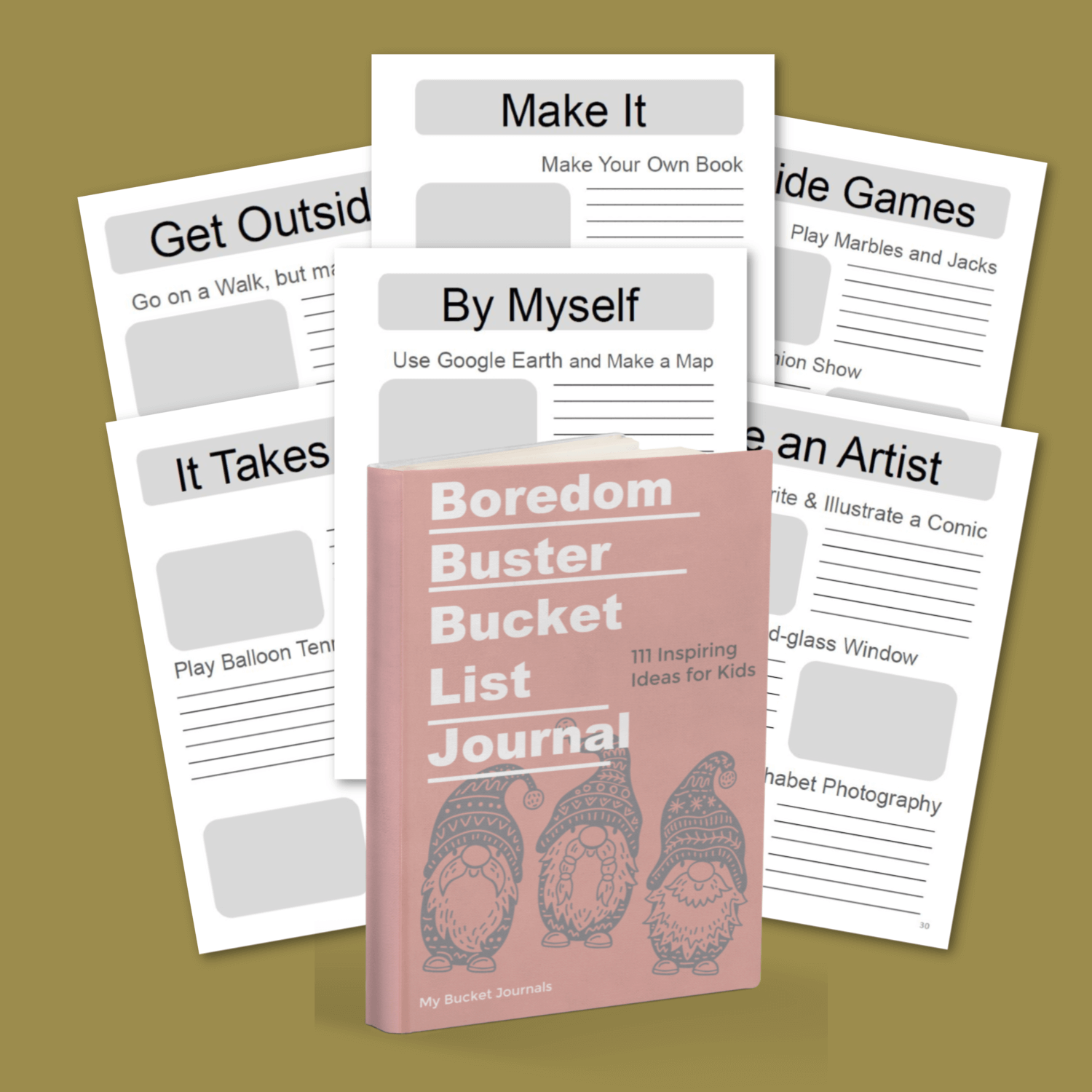 Boredom Buster Bucket List Journal for Kids