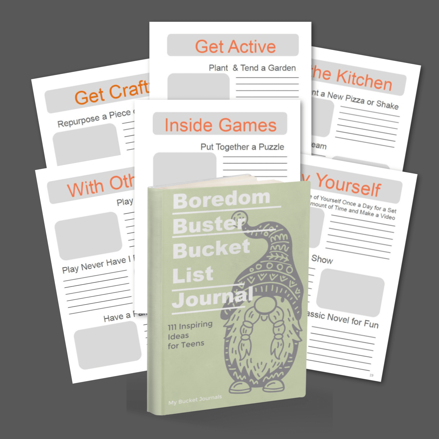 Boredom Buster Bucket Journal for Teens