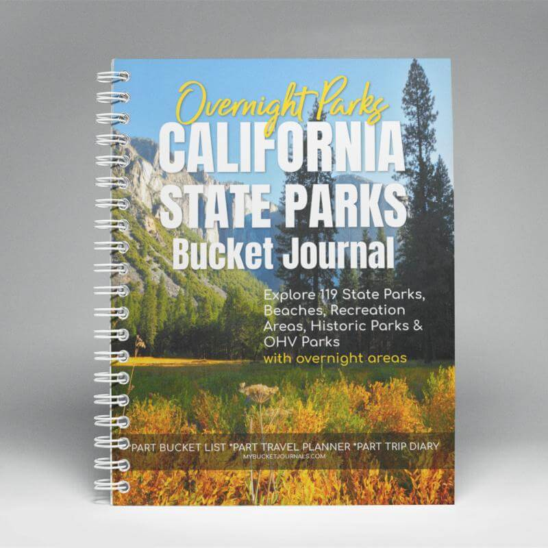 California Overnight State Parks Bucket Journal - Spiral