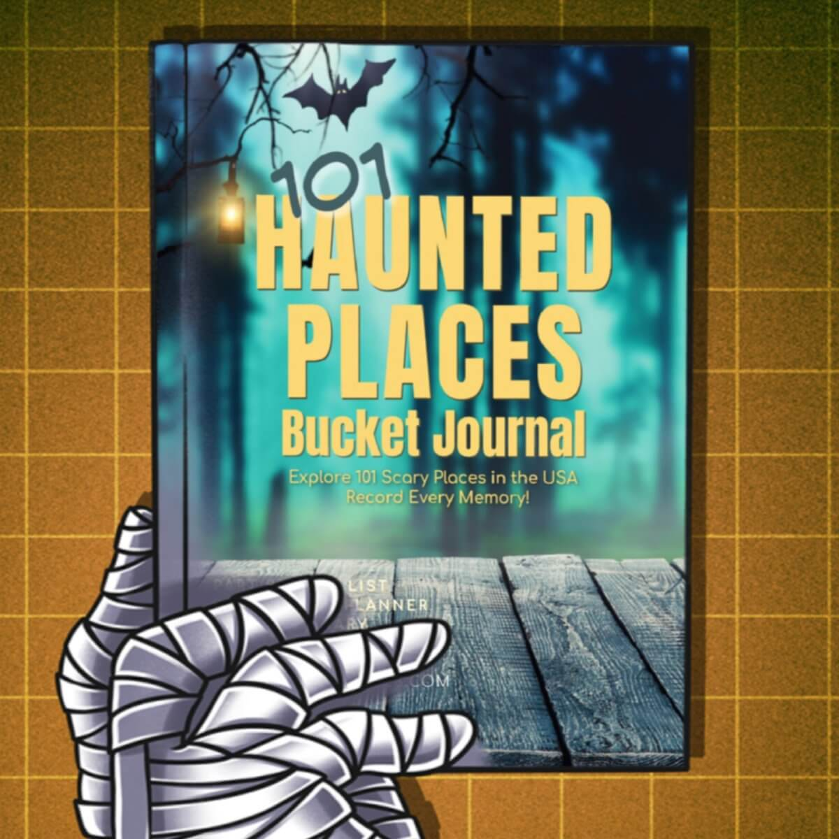 Haunted Places Bucket Journal - Spiral