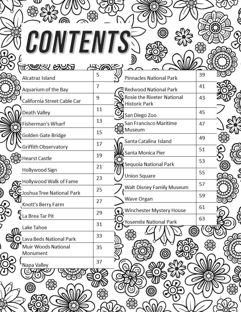 California Bucket List Coloring Book - Paperback
