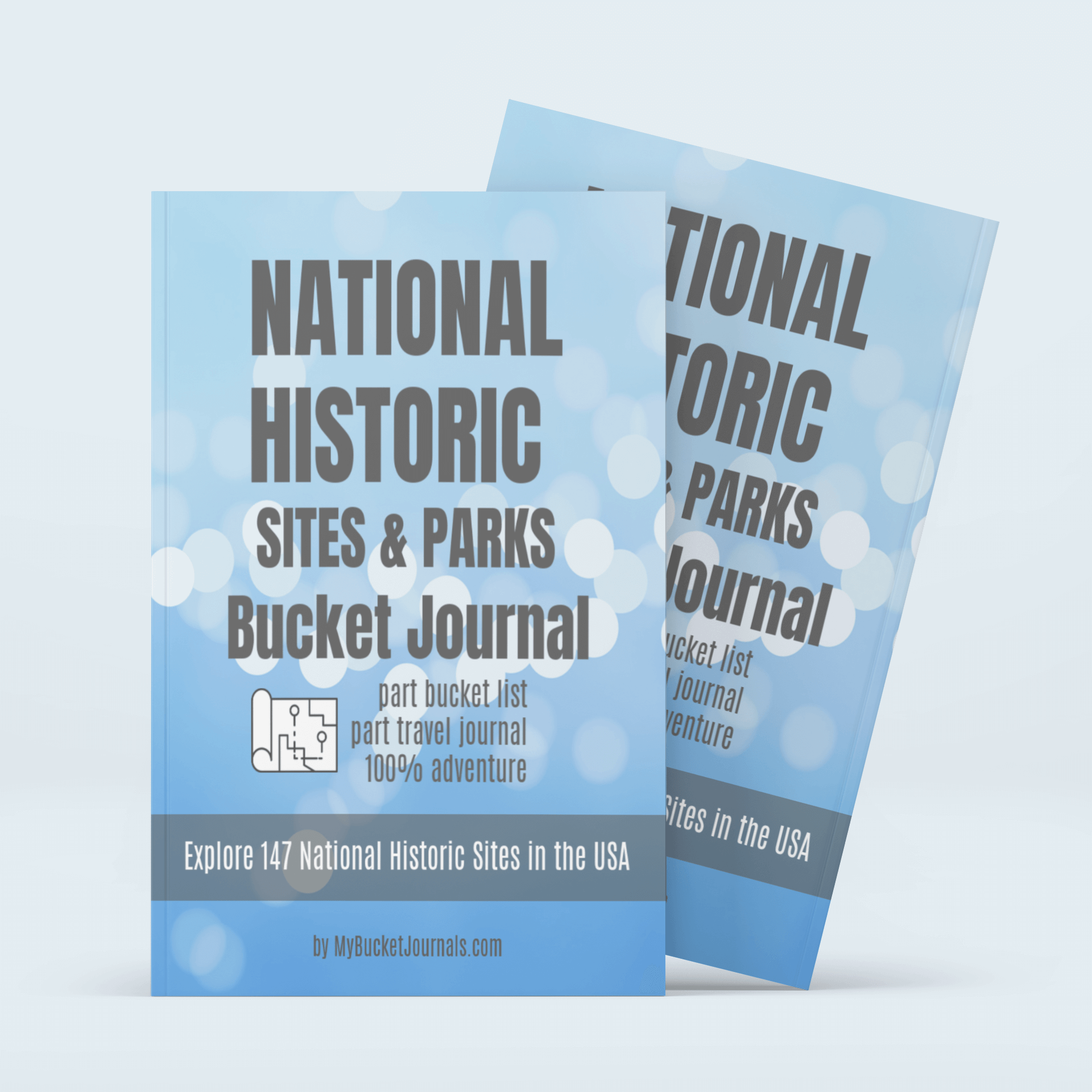 National Historic Sites & Parks Bucket Journal - Paperback